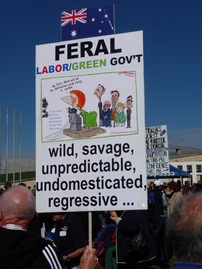 Canberra Protest Rally Aug 16 2011